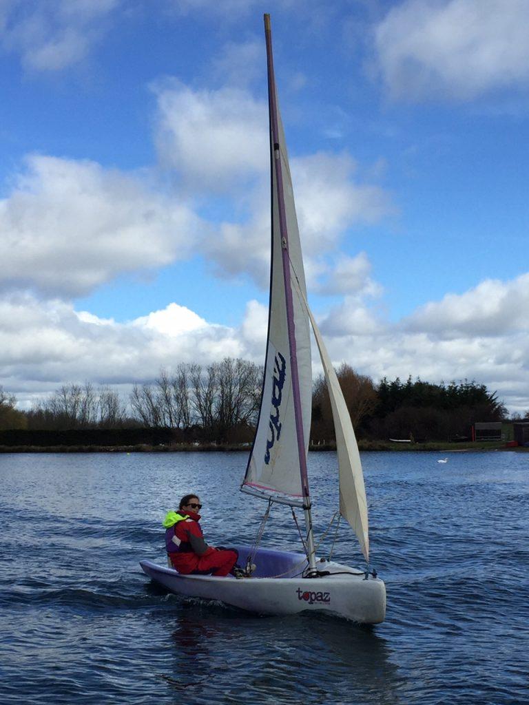 Sailing at Croft Farm Waterpark, Gloucestershire