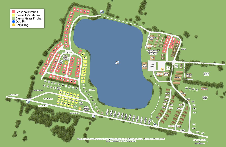 Croft Farm Water Park - Site Map 2020